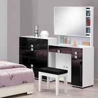 【時尚屋】[UZ6]米蘭白色2.7尺鏡台-含椅子UZ6-63-6