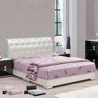 【時尚屋】[UZ6]米蘭法式水鑽5尺雙人床UZ6-63-1+63-2不含床頭櫃-床墊