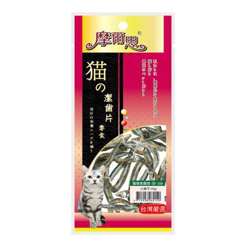 【Mores】摩爾思 潔牙片-貓用小魚干 貓零食 40g x 4包入