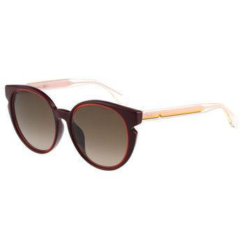 FENDI-時尚造型 太陽眼鏡(紅色)