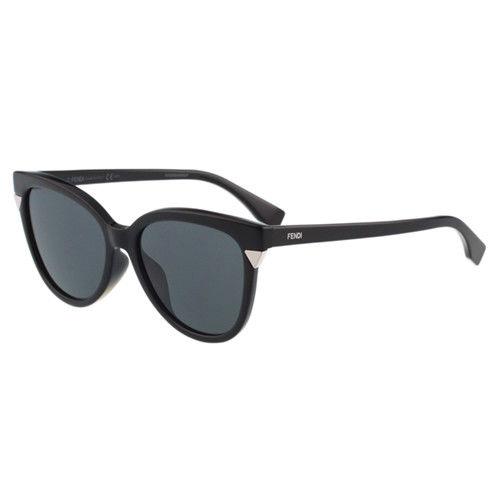 FENDI-時尚小貓眼 太陽眼鏡(黑色)