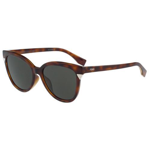 FENDI-時尚小貓眼 太陽眼鏡(琥珀色)
