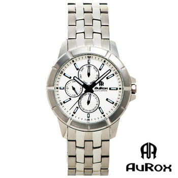 AuRox歐銳時 運動精英三眼不銹鋼石英錶 (AR005G)