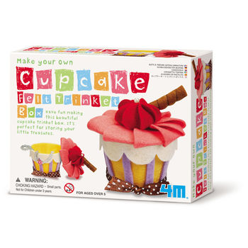 【4M】美勞創作系列 - 俏麗蛋糕首飾盒 Make Your Own Cupcake Felt Trinket Box 00-04634