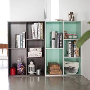 《舒適屋》馬卡龍五格空櫃/書櫃/置納櫃/收納櫃(6色可選)
