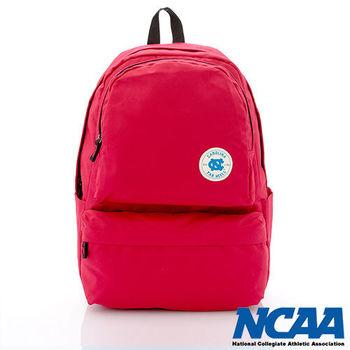 NCAA 北卡徽章馬卡龍色系休閒後背包 (亮紅、湖水藍、亮紫、黑色)