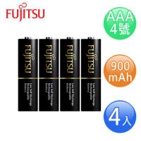 FUJITSU富士通 高容量AAA低自放900mAh充電電池(4號4入)
