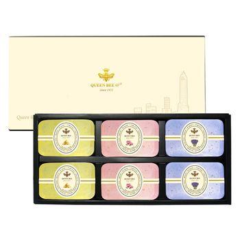 【蜂王Queen Bee】 純金99金箔美膚手工皂6入組(四款任選)