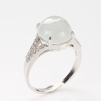 【雅紅珠寶】妍姿俏麗天然冰種白翡翠戒指-#11-活圍設計