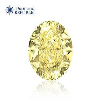 【鑽石共和國】橢圓形型黃彩鑽GIA 0.80克拉 Fancy Yellow / SI2