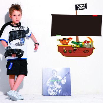 窩自在★DIY無痕創意牆貼/壁貼-海盜船黑板(不附粉筆) AY630(60X45)-行動