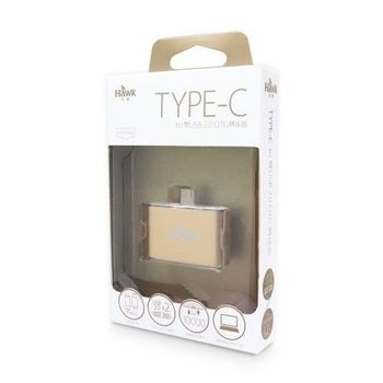 Hawk Type-C to雙USB2.0 OTG轉接器( 金.銀 )