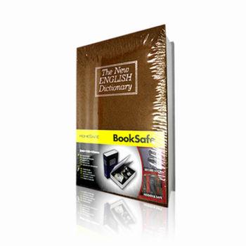【守護者保險箱】仿真書本鑰匙鎖 保險箱 保險櫃 書本型保險箱 小型保險箱 存錢 收納箱 (棕色下單區)