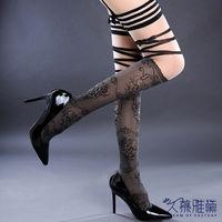 久慕雅黛 性感長筒透視綁帶大腿襪