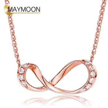 MAYMOON 18K金甜蜜環繞-天然鑽石墬子