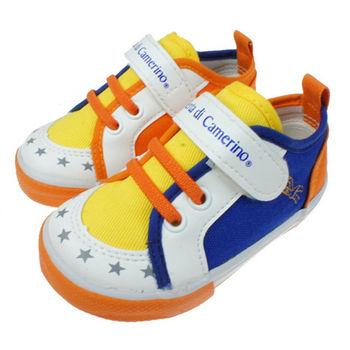 布布童鞋 Roberta諾貝達繽紛黃藍雙色透氣防護休閒鞋 [ CD1805B ] 藍色款