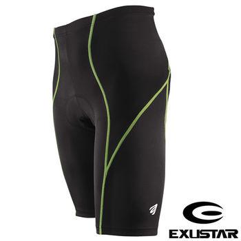EXUSTAR 3D立體專業短車褲(綠) L