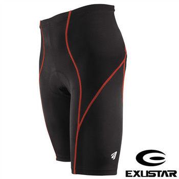 EXUSTAR 3D立體專業短車褲(紅) L