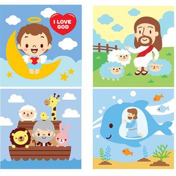 LOVIN 超萌韓版數字油畫聖經故事系列(2356)  4幅