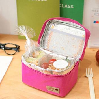 【iSFun】手提方型*防水野餐便當袋/二色可選
