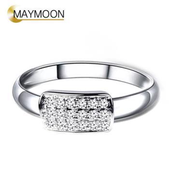 MAYMOON 18K金唯一 天然鑽石0.15ct戒指