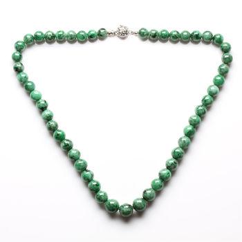 【雅紅珠寶】福祿雙全天然綠翡翠珠鍊