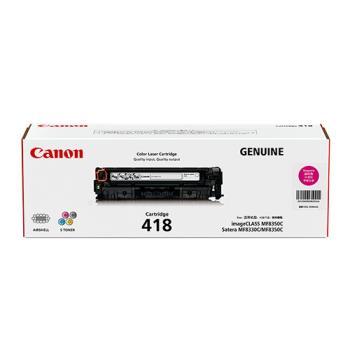 CANON CRG-418M 原廠紅色碳粉匣