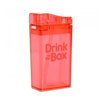【Drink in the box】Tritan兒童運動吸管杯-果凍紅-行動