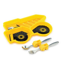 【KIDSFUNWARES】造型兒童餐盤組-工程車-行動