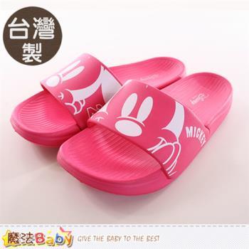 魔法Baby 成人女鞋 台灣製迪士尼米奇正版拖鞋~sh9719