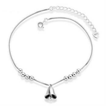 【米蘭精品】手鍊925純銀手環精緻時尚鈴噹
