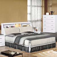 【時尚屋】[UZ6]福特純白5尺布面雙人床UZ6-74-1+74-2不含床頭櫃-床墊