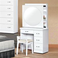 【時尚屋】[UZ6]福特純白2.7尺拉鏡化妝台-含椅子UZ6-73-3