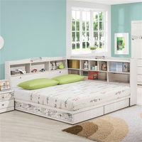【時尚屋】[UZ6]密思朶5尺雙人床UZ6-69-3+-69-4不含床頭櫃-床墊