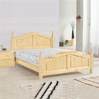 【時尚屋】[UZ6]勝豐5尺松木紋雙人床UZ6-95-3不含床頭櫃-床墊