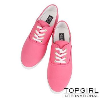 TOP GIRL 繽紛糖果/豹紋系列帆布鞋-女(共六色)