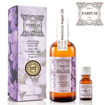 Parfum 巴黎帕芬 經典香水摩洛哥胜肽護髮油100ml(3款可選)+護髮油10ml(隨機)