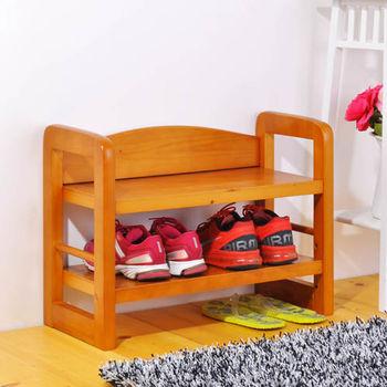 BuyJM全實木坐式穿鞋椅/置物架