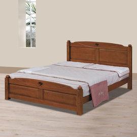【時尚屋】[UZ6]安堤柚木色5尺雙人床UZ6-101-5不含床頭櫃-床墊