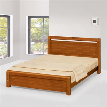 【時尚屋】[UZ6]安格斯3.5尺柚木色加大單人床UZ6-99-2不含床頭櫃-床墊