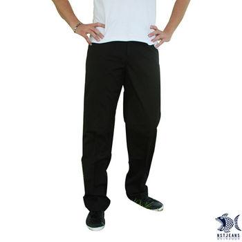 【NST Jeans】390(5363) 質感 黑 光澤 休閒長褲(中腰)男裝/牛仔褲/褲子/休閒褲/長褲/工作褲-行動