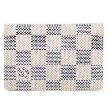 LV N63144 白棋盤格紋信用卡簡便短夾 預購