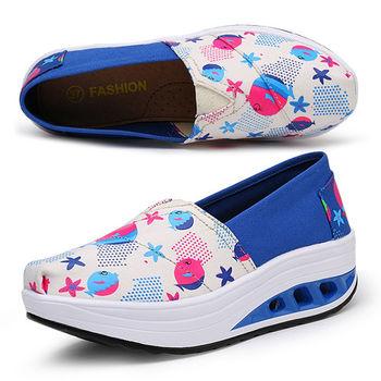 【Alice 】(現貨+預購)Y1027普普風亮麗色彩氣墊式健走鞋