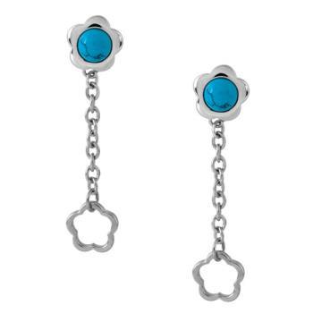 【Jewelrywood】純銀浪漫土耳其石小花耳環