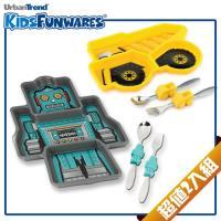 【KIDSFUNWARES】造型兒童餐盤2入組-工程車+機器人-行動