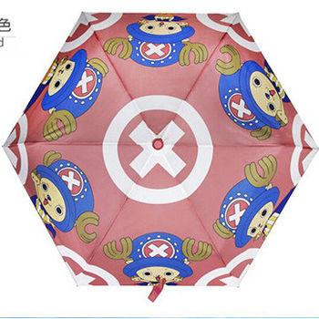 窩自在★正版喬巴超人超輕收自動傘-紅色