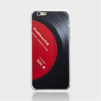 HeadphoneDog黑膠立體刻紋手機殼(經典紅)-行動