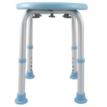【舞動創意】輕量化鋁質可昇降浴室防滑洗澡椅(天空藍)