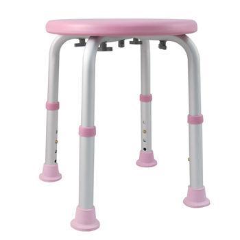 【舞動創意】輕量化鋁質可昇降浴室防滑洗澡椅(嫩粉紅)