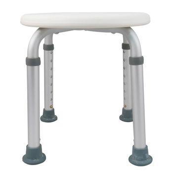 【舞動創意】輕量化鋁質可昇降浴室防滑洗澡椅(純淨白)